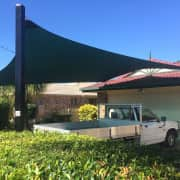 Shade Sail Carport Driveway - After