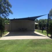 MJSails Shade Sails Brisbane Residential Backyard Shed 001