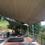 Pool deck shade sails - UV protection